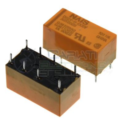 Relay DS2Y-S-DC5V Voltage coil 5V DPDT 3A 30Vdc 250Vac 8 pin NaisPanasonic