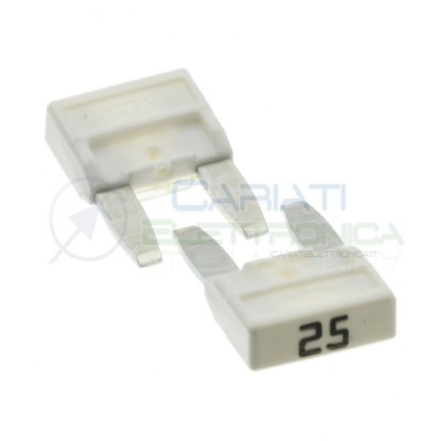 5 Pcs Blade Fuse 25A 32V fast 11,9mm for car camperMta