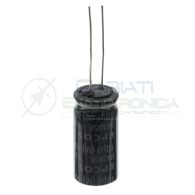 2 pezzi 10uF 400V Condensatore Elettrolitico 25x13mm 105° passo 5mm EPCOS