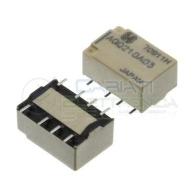 Relè AGQ210A03 Bobina 3V DPDT 1A 30Vdc 300mA 250Vac 8 pin Panasonic
