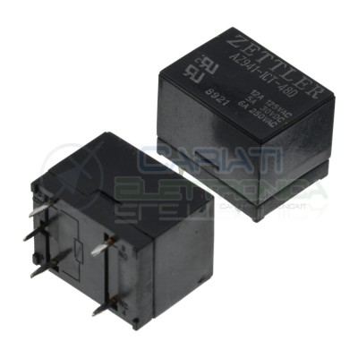 Relay AZ941-1CT-48D Voltage coil 48V SPDT 5A 30Vdc 6A 250Vac 5 pinZettler