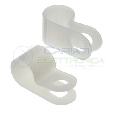 10 pcs Cable clamp diameter max 7,9mm Nylon 66Kss