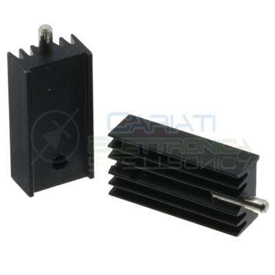Heatsink in aluminium 12,5x7,5x25mm