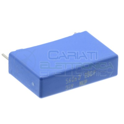 5 Pezzi Condensatore 560nF 250V in Polipropilene MKP Passo 22,5mm 10%