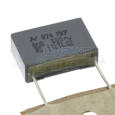 5 Pezzi Condensatore 6,8nF 500V in Poliestere R74 MKP Passo 15mm 10% Kemet
