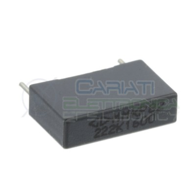 5 Pcs Capacitor 2,2nF 650V in polyester MMKP82 Pitch pin 15mm 10%