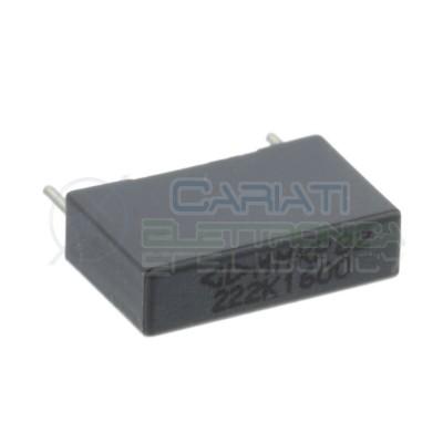5 Pezzi Condensatore 2,2nF 650V in Poliestere MMKP82 Passo 15mm 10%