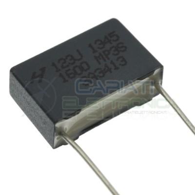 2 Pezzi Condensatore 10nF 400Vdc 1kVdc in Poliestere Passo 15mm 10%