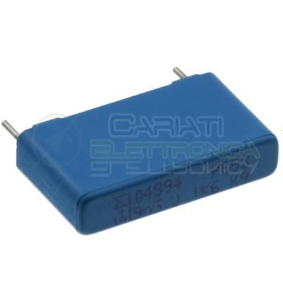 2 Pezzi Condensatore 9,5nF 650Vdc 1600Vdc in Poliestere Passo 22,5mm 10%
