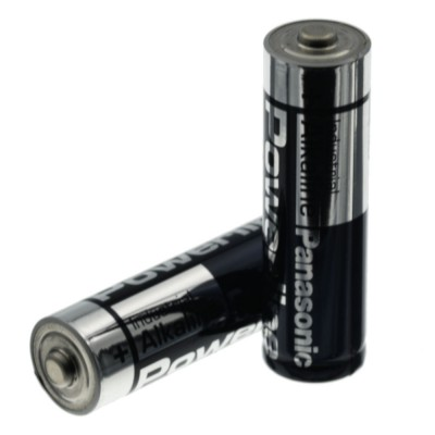 2 pezzi Batteria 1,2V AA LR6 Stilo 1,5 Volt Powerline Panasonic Alkalina Industrial Panasonic