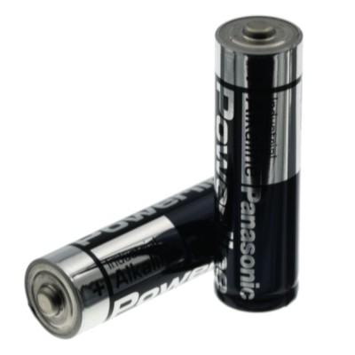 2 pezzi Batteria 1,2V AA LR6 Stilo 1,5 Volt Powerline Panasonic Alkalina Industrial Panasonic