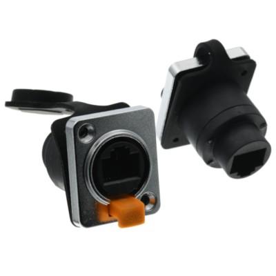 Plug socket Ethernet RJ45 Lan Panel mounting female femaleGenerico