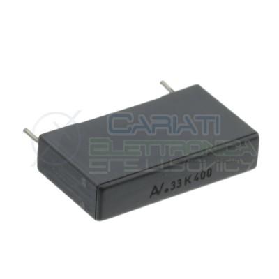 Condensatore 330nF 400V R60 in Poliestere Passo 22,5mm 10% Kemet
