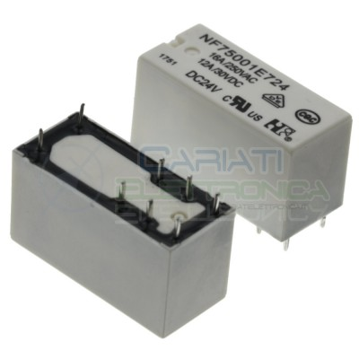 Relay NF75001E724 Voltage coil 24V SPDT 12A 30Vdc 16A 250Vac 8 pinNF Forward