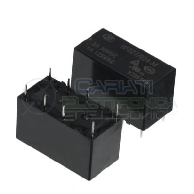 Relè HFD27/024-M Bobina 24V DPDT 2A 30Vdc 1A 125Vac 8 pin HONGFA RELAY