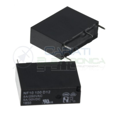 Relay NF10100D12 Voltage coil12V SPST 5A 30Vdc 5A 125Vac 4 pinNF Forward