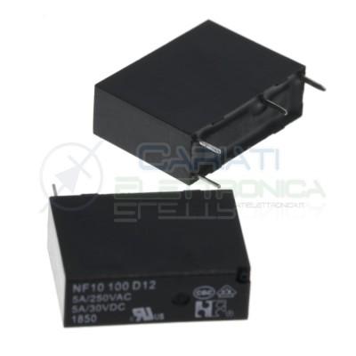 Relè NF10100D12 bobina 12V SPST 5A 30Vdc 5A 125Vac 4 pin NF Forward