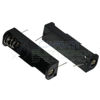 1 Pezzo Porta Batteria PortaBatteria Pila AA LR06 con terminali a saldare