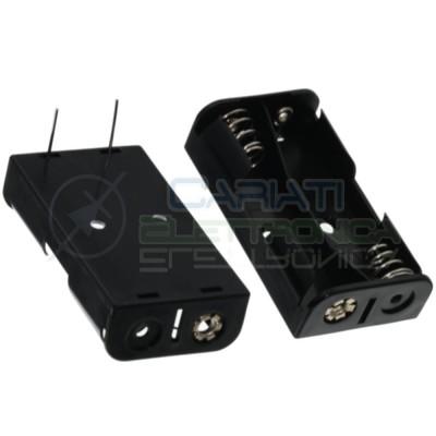 1 Pezzo Porta Batteria PortaBatteria 2 Pile AA LR06 con terminali a saldare