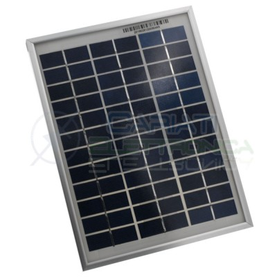 Photovoltaic cell polycrystalline 12V 10W max 18,1V 570mA 354x251x17mmCariati Elettronica