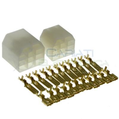 Kit Terminal Faston 11 Pin 6.35 Male FemaleCariati Elettronica