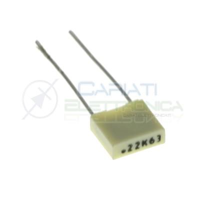 50 PEZZI Condensatore Poliestere 220nF 220 nF 63V P 5mmKemet