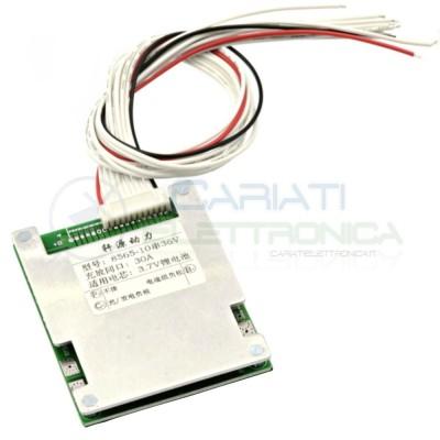 copy of BMS Circuito di protezione 36V 30A per max 10 batterie 18650 agli ioni di Litio Li-ion