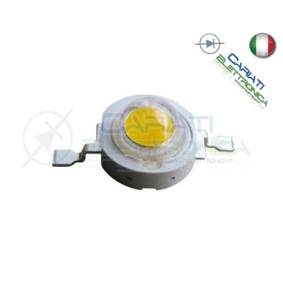 Led Power Bianco caldo 1W 1 Watt 350mA 100 lumen lm Cariati Elettronica