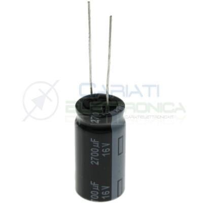 Condensatore elettrolitico 2700uF 16V 105°C 12,5X25mm Passo 5mm Panasonic
