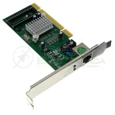 Scheda di Rete PCI 32 bit Gigabit 10/100/1000 Mbit LAN RJ45 Ethernet Nedis