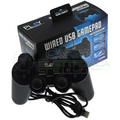 Joypad Joystick Gamepad Usb 13 Tasti e 2 Analogici per Pc Windows PL3330 cavo 1,5m Ewent