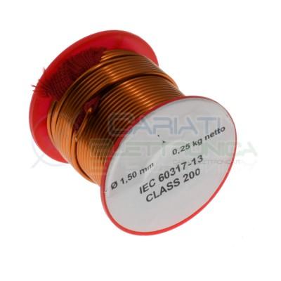 Rotolo filo di rame 1,5mm 250g per avvolgimenti singolarmente smaltato Rocchetto Cavo Bobina 0,25Kg Generico