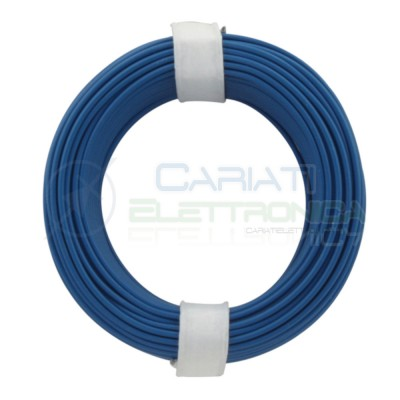 10m Cavo unipolare multifilare da 1mm in rame sottile morbido colore Blu Donau