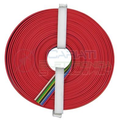 5m Cavo multipolare 8 colori multifilare da 1mmx8 in rame sottile morbido MulticoloreDonau