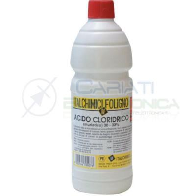 1L Acido cloridrico muriatico puro disincrostante anticalcare sgrassante 30-33%