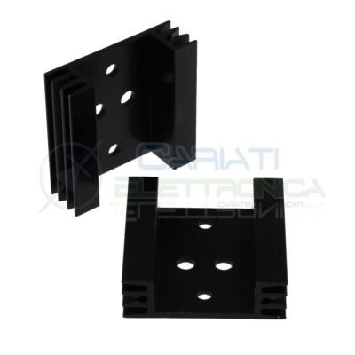 Dissipatore TO3 45x45x14mm Aletta Raffreddamento Alluminio Transistor Generico