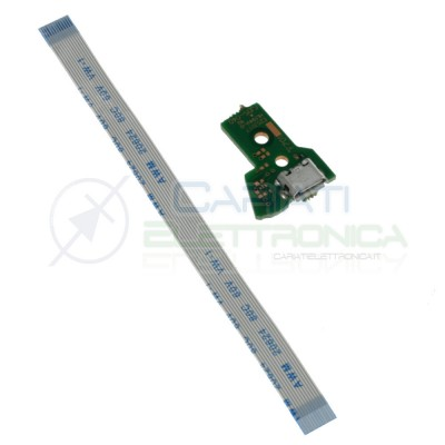 JDS-040 Porta Micro usb Joypad PS4 con Cavo Flat Connettore scheda controller pcb 12 pinGenerico