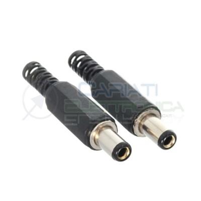 2 Pezzi Spina presa 5,5X2,1 mm connettore di alimentazione DC femmina 5,5X2,1mm 13mm Generico