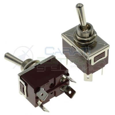 Interruttore Deviatore a Leva DPST ON OFF 15A 250V 4 Pin Generico