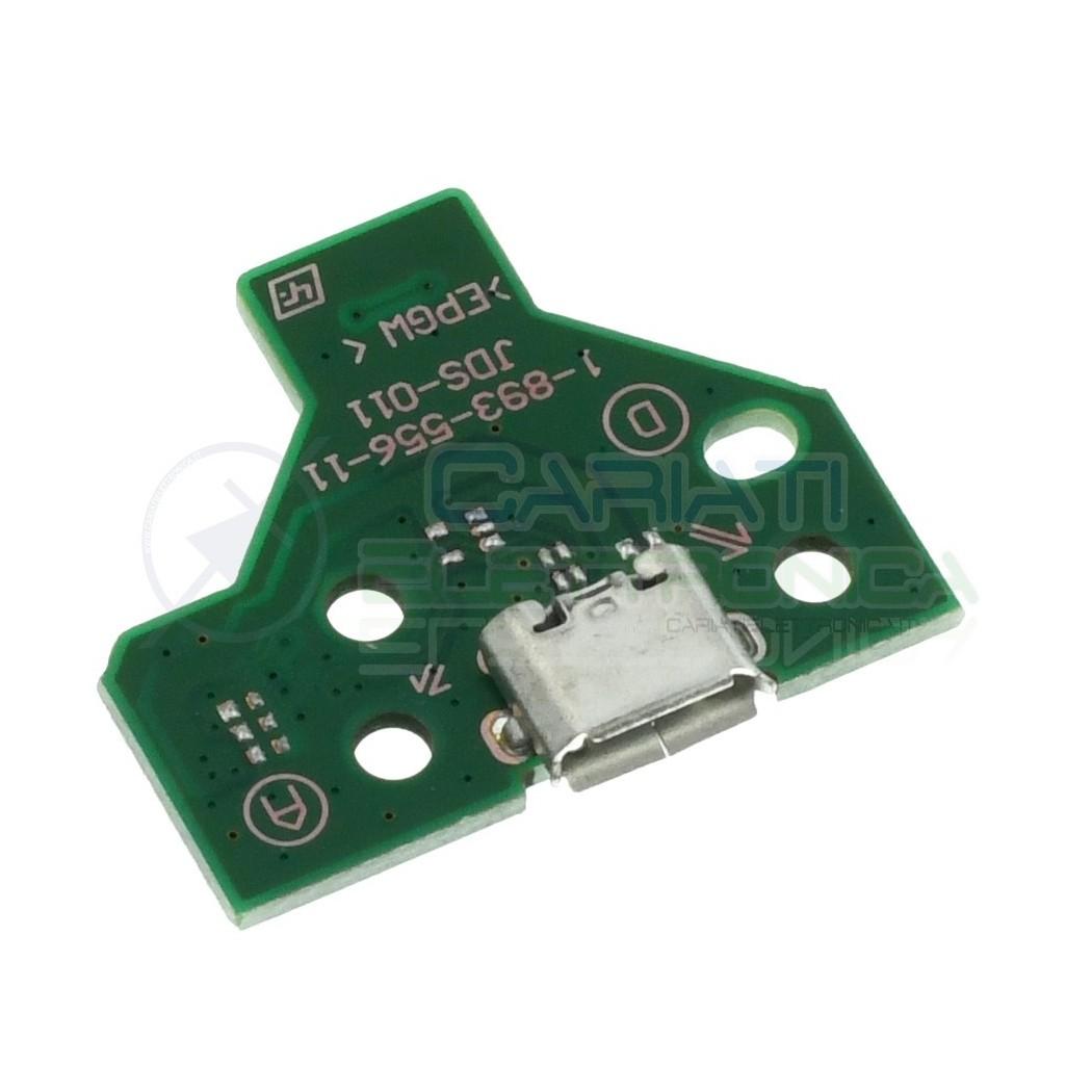 Scheda Presa per Porta di Ricarica USB Jds-011 per Controller Sony Ps4 Cavo a 12 Pin Verde