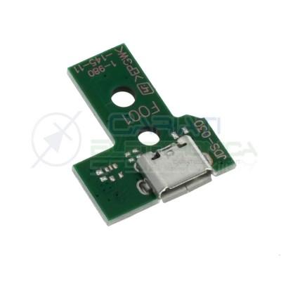 JDS-030 Porta Micro usb Joypad PS4 Dualshock con Cavo Flat Connettore scheda controller pcb 12 pinGenerico