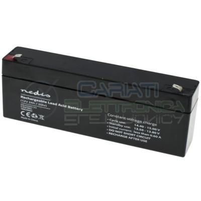 Batteria 12V 2000mAh 2Ah piombo-acido ricaricabile 178x34x66mm ermetica Nedis