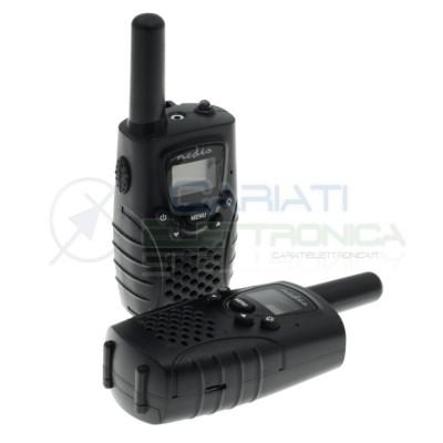 Kit Radio ricetrasmittenti walkie talkie PMR 8 km + Luce Led Uso libero senza licenza Nedis