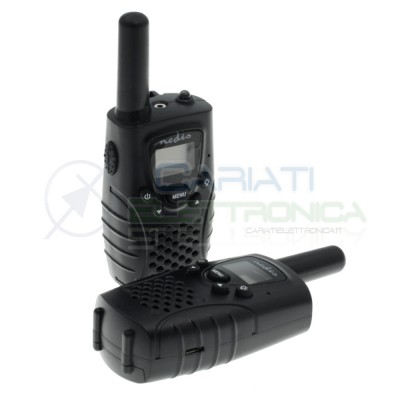 Kit Walkie talkie PMR 8 km i channels + led lightNedis