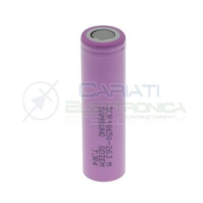 Batteria 18650 ICR18650-26JM Samsung ricaricabile 2600mAh 3,7V - 4,2V Samsung