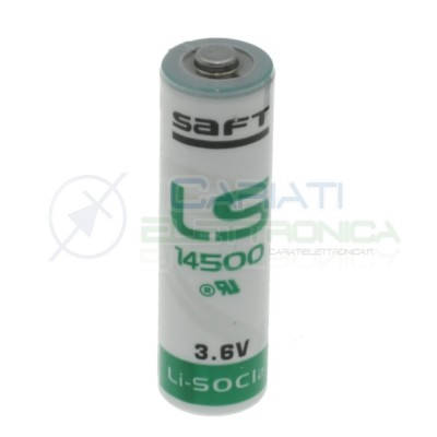 BATTERIA STILO PILA AA LITIO SAFT LS14500 3,6V 2600mAh ALLARME Saft Battery