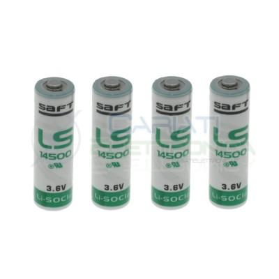 4 PEZZI BATTERIA STILO PILA AA LITIO SAFT LS14500 3,6V 2600mAh ALLARMESaft Battery