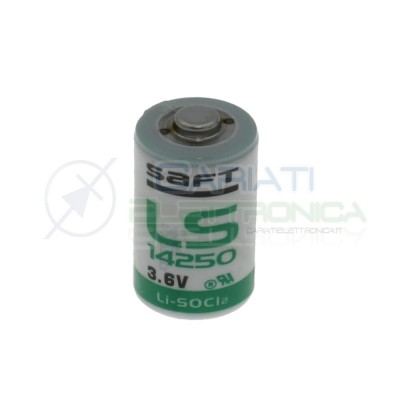 BATTERIA LITIO SAFT LS14250 3,6V 1/2 AA Li/SoCl2 ALLARME Saft Battery