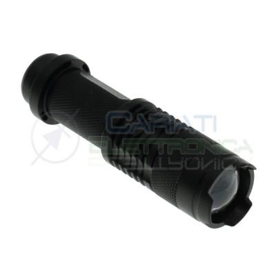 Mini Torcia con led 3W 300Lm Bianco freddo con Zoom monta batteria AA 14500Generico