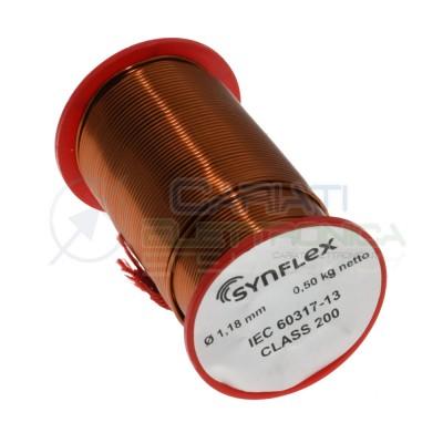 500g Rotolo filo di rame da 1,18mm singolarmente smaltato per avvolgimenti Cavo bobina 0,5Kg